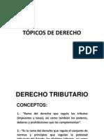 Derecho Tributario, principios y aplicación