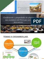 Clasificación  y propiedades de plantas mas populares del Peru (OFICIAL)