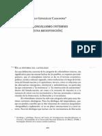 a) González - Casanova, Pablo. El colonialismo interno.