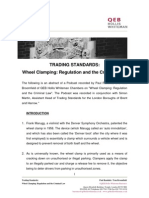 Wheel Clamping Regulation and the Criminal Law