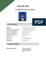 HOJA de VIDA Andres Felipe Loaiza