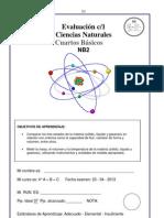 Evaluación ciencias 4° la materia