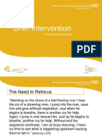 Brief Intervention for tobacco cessation