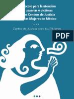 Protocolo para la atencion de usuarias y victimas en los centros de justicia para las mujeres en México