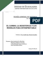 Tgs El Cambio, La Resistencia y Los Modelos Para Interpretarlo