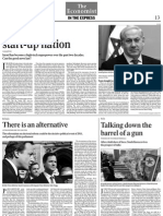 Israel Has Become a High-tech Superpower Over the Past Two Decades The Indian Express January 4, 2011