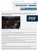 Miles de ecuatorianos en España respaldan al presidente Rafael Correa en un emotivo encuentro | ANDES.pdf