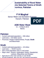 Monitoring Sustainability of Water Supply Systems - F H Mughal