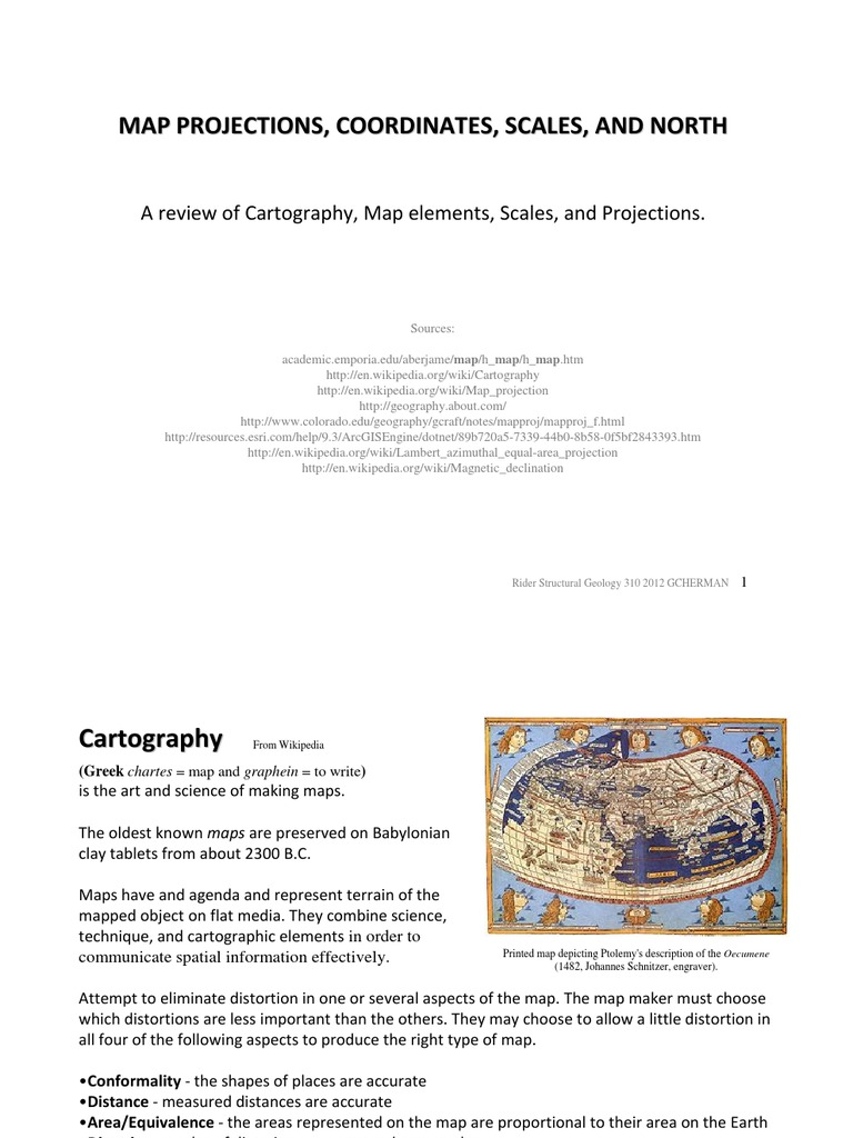 2A-Map Projections and Scales | Latitude | Longitude