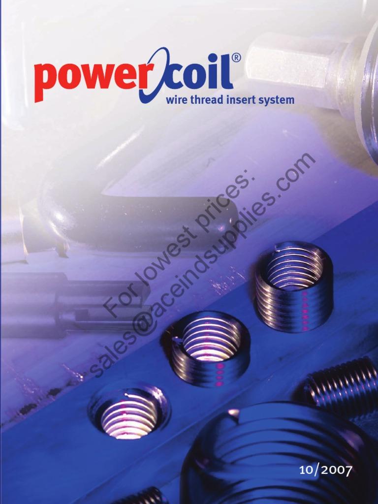 PowerCoil 3532-10GX2.0DP UNC 10 x 24 x 2.0D Wire Thread Inserts 10 Pack