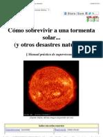 Cómo sobrevivir a una tormenta solar (y otros desastres naturales)