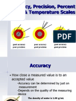 Accuracy, Precision, And Percent Error Ppt