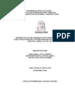"""REVISIÓN DE LOS PROCEDIMIENTOS DE DISEÑO ESTRUCTURAL PARA FUNDACIONES DE CONCRETO REFORZADO Y SU APLICACIÓN SEGÚN EL CÓDIGO ACI 318 - 05""""."""