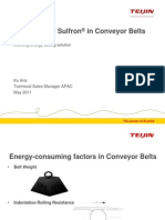 Twaron and Sulfron in Conveyor Belts - a strong energy saving solution