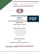 Datos Estandares en Procesos de Maquinado