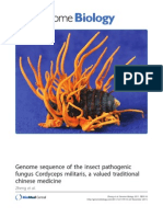 Genome Biology Full Text Genome Sequence of the Insect Pathogenic Fungus Cordyceps Militaris, A Valued Traditional Chinese Medicine