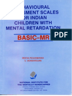 Behavioural Assesment Scales for Indian Children-BASIC MR
