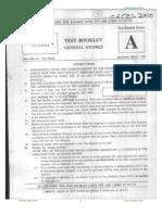 2010 Civil Services Prelim Exam General Studies