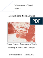Design of Safer Side Drains