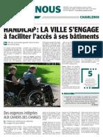 La DH - Handicap La Ville s'engage à faciliter l'accès à ses bâtiments - 28.05.13