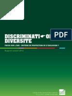 Centre pour l'égalité des chances - Rapport annuel 2013