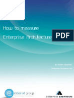 How to Measure Enterprise Architecture
