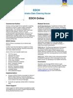 EDCH ServiceSheet EDCH Online