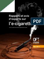 Rapport sur la cigarette électronique