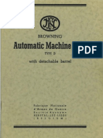 Browning Automatic Machine Rifle Type D Manual