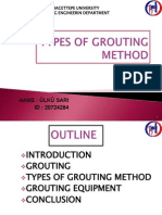 Types of Grouting Method