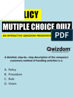 Hr Policy Quiz