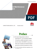 Operation and Maintenance of M2000 Huawei
