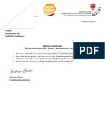 Seilbahnprojekt Brixen Kosten - Landtagsanfrage Andreas Pöder BürgerUnion