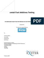 Diesel Fuel Additives Testing