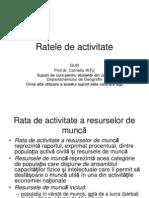 Ratele de Activitate