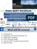 The NASA QUDT (Quantities, Units, Dimensions, and Data Types) Handbook and Ontologies – A Model-Based Foundation for Quantitative Data Alignment and Exchange