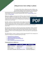 Standard Metal Cutting Processes
