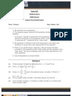Pre Board-Questions CBSE XII Math25012013