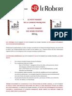 CP Petit Robert 2014