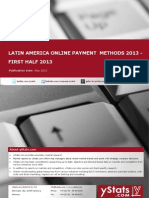 Latin America Online Payment Methods Report 2013 - First Half 2013 by yStats.com