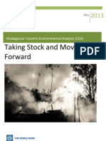 Madagascar Country Environmental Analysis (CEA) - Taking Stock and Moving  Forward (World Bank - May 2013)