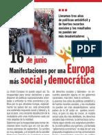 Doc154979 16 de Junio. Manifestaciones Por Una Europa Mas Social y Democratica