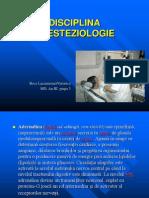 Disciplina Anesteziologie