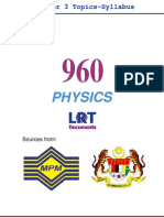960 Physics [PPU_STPM] Semester 3 Topics-Syllabus