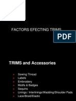 Parameters Effecting Trims