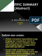 Scientific Summary (Abstract)