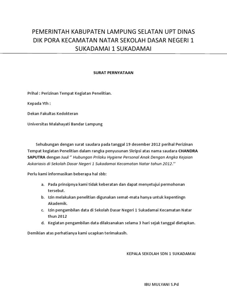 Contoh Balasan Surat Dinas Pemerintahan