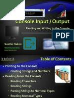 Console Input Output