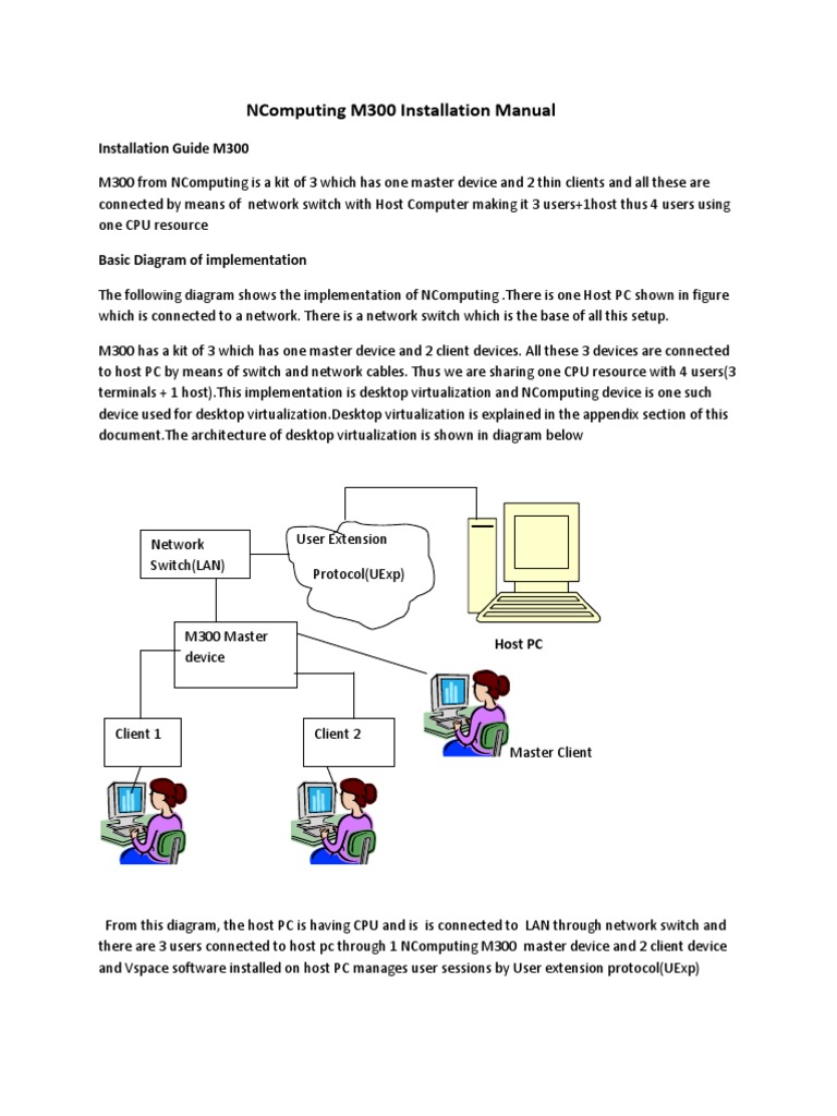 NComputing M300 Technical Manual | Desktop Virtualization