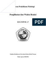 Laporan Praktikum Fisiologi Penglihatan Dan Waktu Reaksi (Oke)